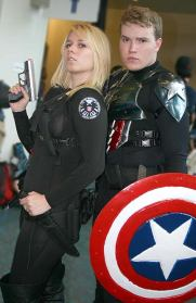 Captain America Bucky and Agent 13