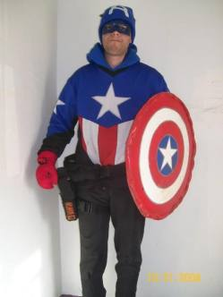 Captain America paintball