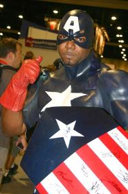 Captain America Red White and Black