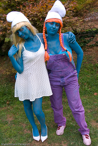 Blue cosplay smurf girl gets a deep pussy pounding from evil Gargamel № 920576 загрузить