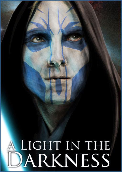 Light in the darkness (фотоманипуляция для книги)