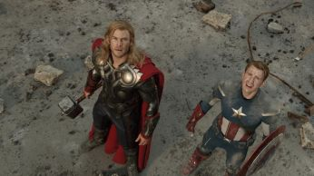 thor and cap look up