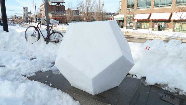 Dodecahedron-snow-sculpture