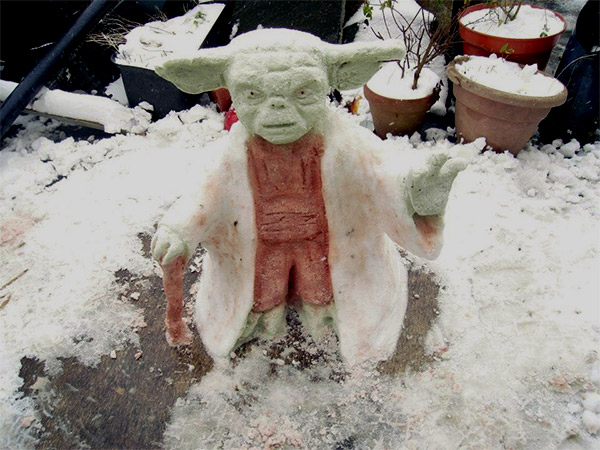 Yoda-Snowman