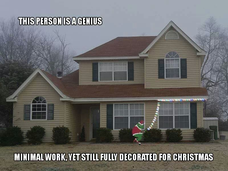 How a Lazy (Yet Clever) Person Decorates For Christmas | He Geek ...