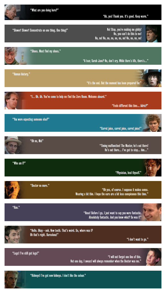doctor who first last lines