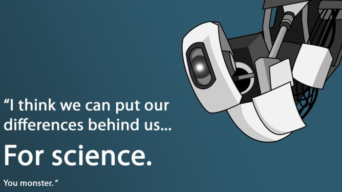 (picture source: http://www.deviantart.com/art/GlaDOS-vector-277802393)