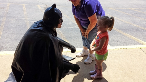 Batman and kid