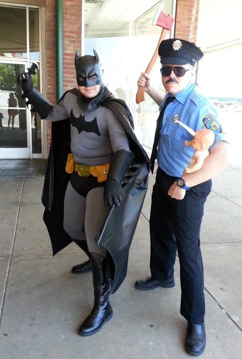 Batman meets Axe Cop