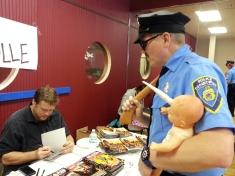Ethan Nicolle sketching Axe Cop