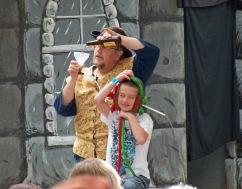The magician magishing a kid!