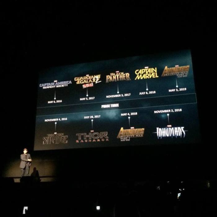 marvel lineup