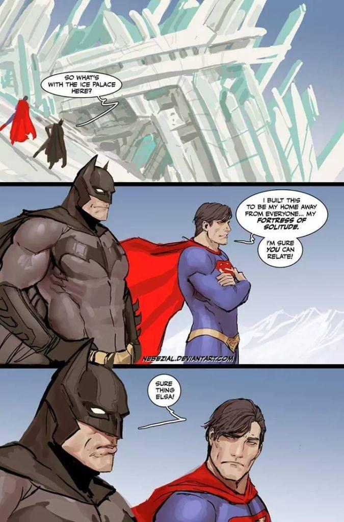 batman superman fortress