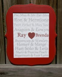 This Famous Couples Framed 8x10 Wall Art Comes With A Snazzy Red Frame Ready To Hang