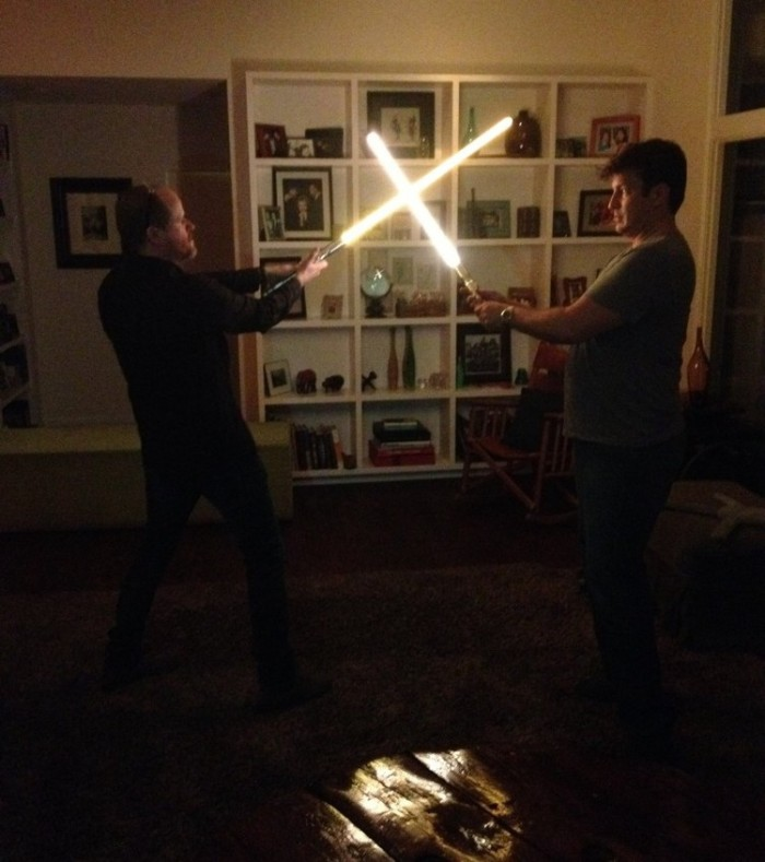 whedon fillion lightsabers