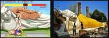 Sagat Stage (Street Fighter series) and Wat Phra Si Sanphet temple (Thailand)